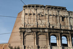 Colosseum, elliptical Flavian amphitheatre Royalty Free Stock Photos