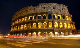 Colosseum em a noite Foto de Stock Royalty Free