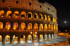 Colosseum en la noche Fotografía de archivo