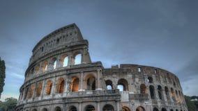 Colosseum en la puesta del sol almacen de video