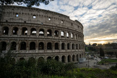 Colosseum en la puesta del sol Fotografía de archivo