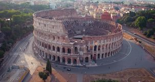 Colosseum en Roma almacen de video