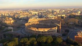 Colosseum en Roma - visión aérea almacen de video