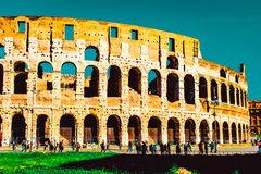 Colosseum Rome Seventh Wonders Of World stock photos
