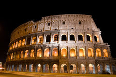 Colosseum entro Night Fotografie Stock
