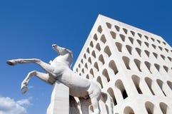 Colosseum esquadrado Roma Fotos de Stock Royalty Free