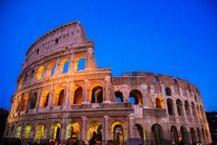 The Colosseum in the evening. November 23, 2017. Rome, Italy. The Colosseum in the evening Stock Photo