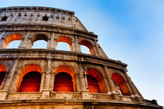 The Colosseum, evening view, Rome, Italy. The Colosseum at the evening, Rome, Italy Royalty Free Stock Photography