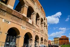 The Colosseum Exterior Rome royalty free stock photo