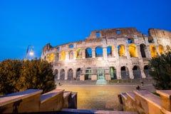 Colosseum famoso durante la igualación de horas Imagenes de archivo