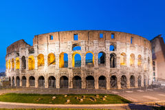 Colosseum famoso durante la igualación de horas Imágenes de archivo libres de regalías