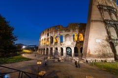 Colosseum famoso durante la tarde Fotos de archivo