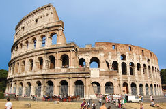The Colosseum, famous ancient amphitheater in Rome Stock Photos