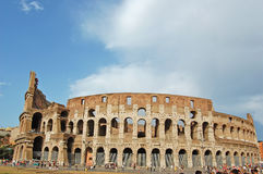 The Colosseum, famous ancient amphitheater in Rome Royalty Free Stock Photos