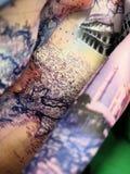 Colosseum fez na porcelana fotografia de stock