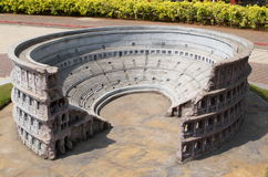 Colosseum-The first amphitheater miniature Stock Photos