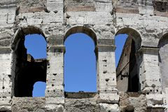 Colosseum, Flavian Amphitheatre, Roma, Italy Stock Image