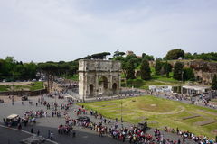 The Colosseum and Forum. In Rome, Italy Royalty Free Stock Photos