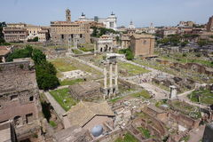 The Colosseum and Forum. In Rome, Italy Stock Image