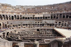 The Colosseum and Forum Royalty Free Stock Photography