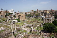 The Colosseum and Forum Stock Image