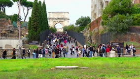 At The Colosseum Gate stock video footage