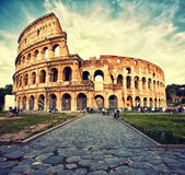 Colosseum. Great Colosseum view, Rome, Italy stock image