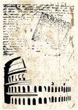 Colosseum Grunge illustrazione di stock