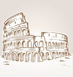 Colosseum hand draw Stock Images