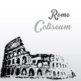 Colosseum, hand drawing watercolor style Royalty Free Stock Photography
