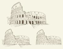 Colosseum hand drawn vector illustration isolated Stock Photography