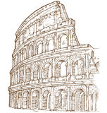 Colosseum handattraktion Arkivfoto