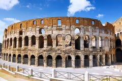 Colosseum, het wereldberoemde oriëntatiepunt in Rome. Stock Fotografie