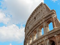 Colosseum highest part Rome Italy. Sky Royalty Free Stock Images