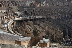Colosseum, historic site, ancient history, landmark, ruins. Colosseum is historic site, ruins and ancient roman architecture. That marvel has ancient history stock photo
