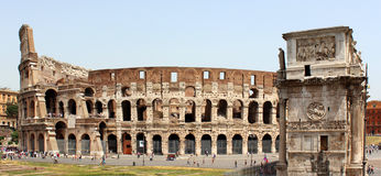 Colosseum i łuk Constantine zdjęcie stock