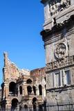 Colosseum i Costantine łuk w Rzym, Włochy Obraz Royalty Free