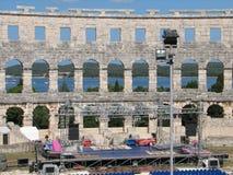 Colosseum i Pola Fotografering för Bildbyråer