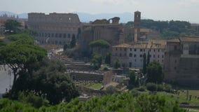 Colosseum i Rome, Italien arkivfilmer