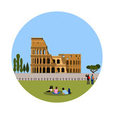 Colosseum icon isolated on white background. Stock Photos