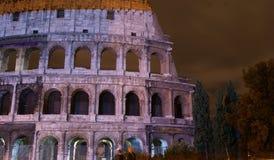 Colosseum a illuminé Image libre de droits