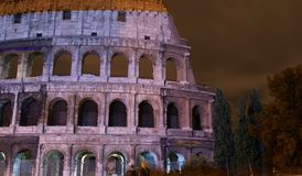 Colosseum illuminated Royalty Free Stock Image