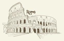 Colosseum, illustration de vecteur, tirée par la main, croquis Images stock