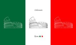 Colosseum  illustration Stock Photography