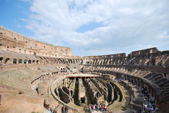 Colosseum inside. Interior view of the Roman Coliseum, Rome, Italy Royalty Free Stock Photography