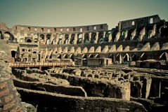 Colosseum inside Stock Images