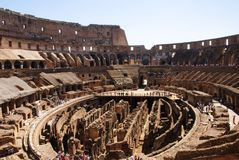 Colosseum from the inside, Rome, Italy royalty free stock image