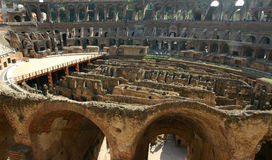 Colosseum Interior royaltyfri bild