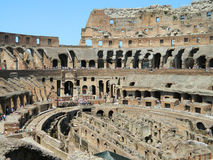 Colosseum Interior Arkivfoton