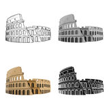 Colosseum in Italy icon in cartoon style isolated on white background. Countries symbol stock vector illustration. Stock Photos